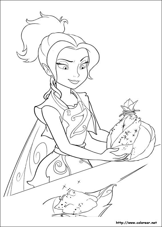 Dibujos para colorear de Tinker Bell  Hadas y piratas