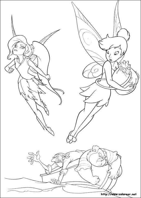 Dibujos para colorear de Tinker Bell : Hadas y piratas