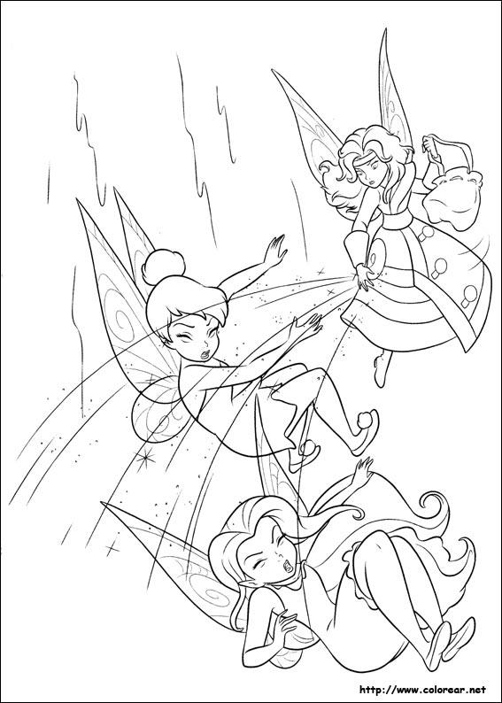 Dibujos de Tinker Bell : Hadas y piratas para colorear en Colorear.net