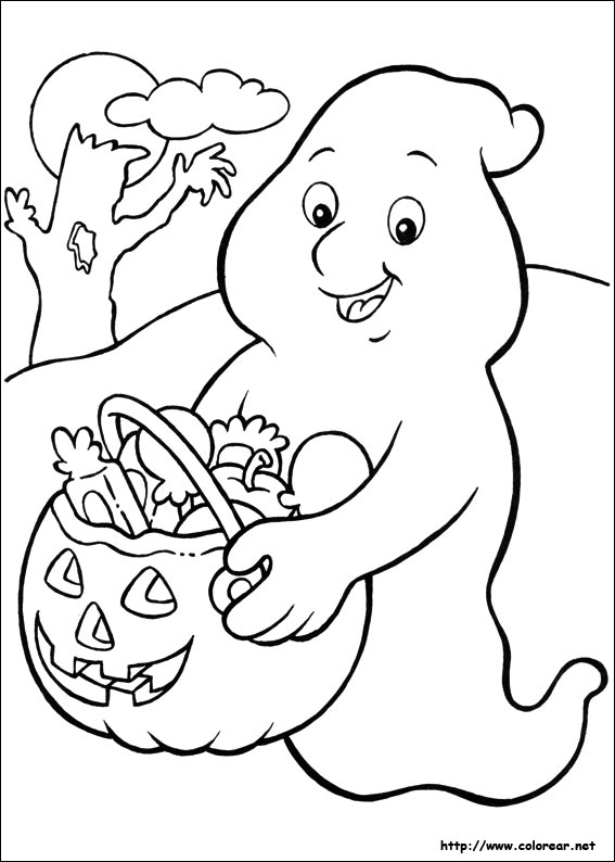 halloween scenery coloring pages - photo #15