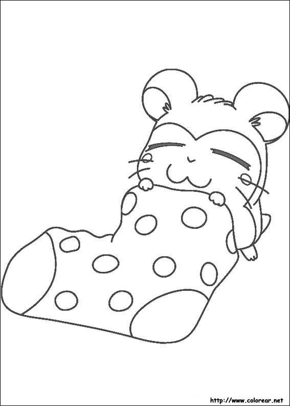 Hamtaro Coloring Pages Cartoon Character