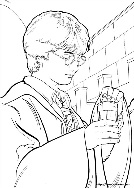 Dibujos de Harry Potter para colorear en Colorear.net