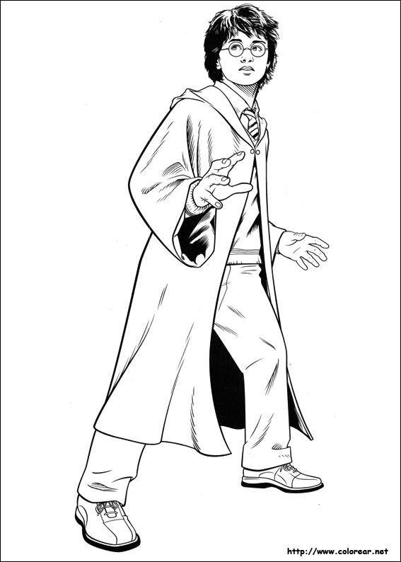 Dibujos de Harry Potter para colorear en Colorear.net