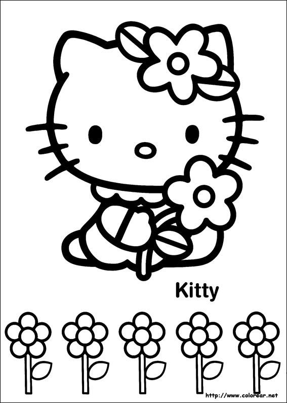 Dibujos de Hello Kitty para colorear en Colorear.net