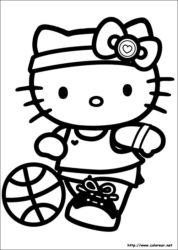 Hello Kitty Gymnastics Coloring Pages : Free coloring pages of colour a football kit