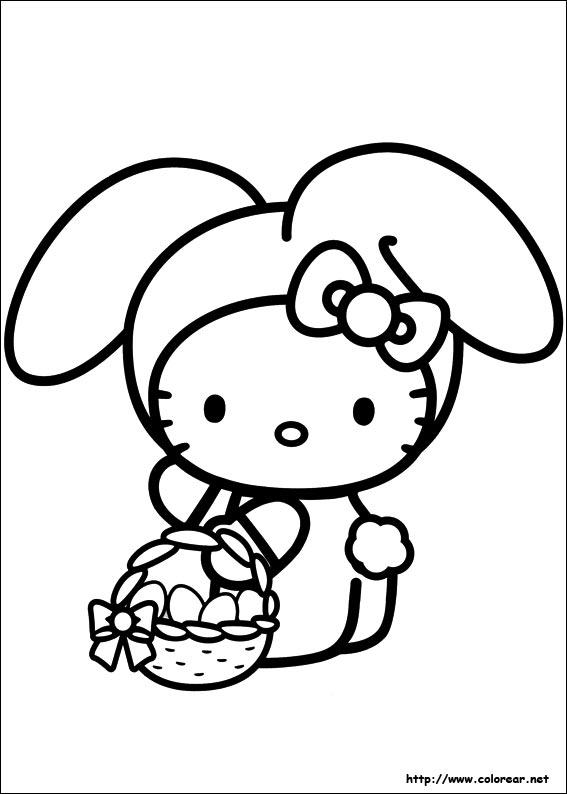 Dibujos De Hello Kitty Para Colorear En Colorearnet