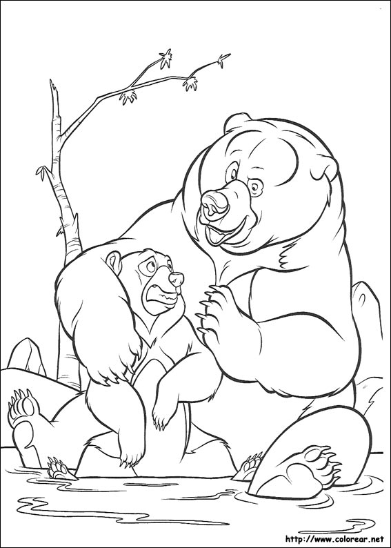 Dibujos para colorear de Hermano Oso
