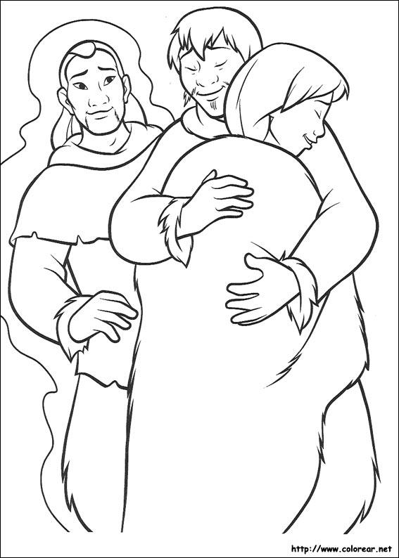 Dibujos Para Colorear Hermano Oso Kena Y Koda Es Hellokids