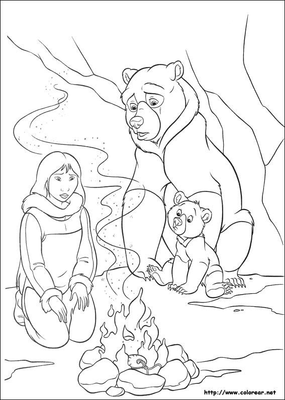 Dibujos Para Colorear De Hermano Oso 2