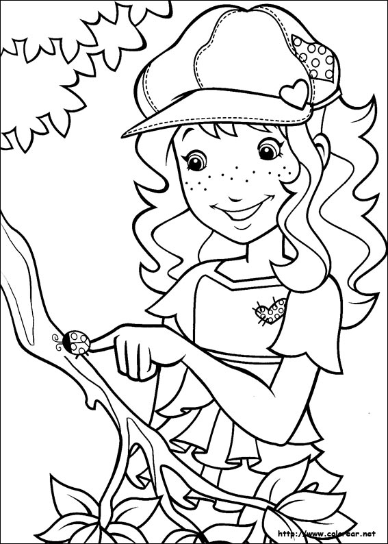 Dibujos para colorear de holly hobbie for Holly hobbie coloring pages