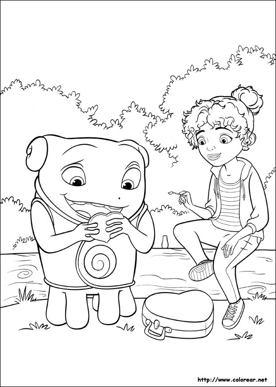 oh home movie coloring pages - photo #19
