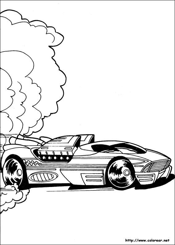 Dibujos de Hot Wheels para colorear en Colorearnet