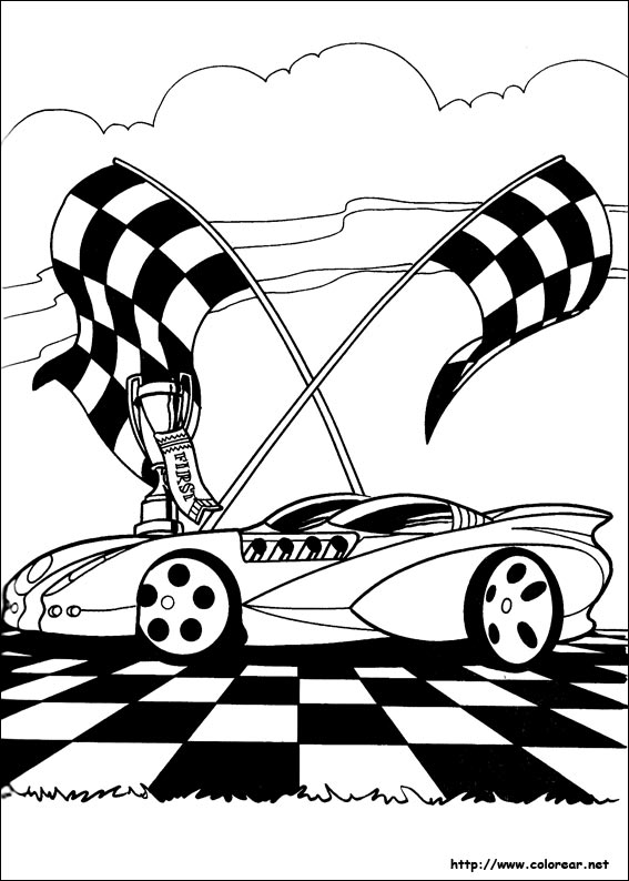 Free hot wheels para colorear coloring pages