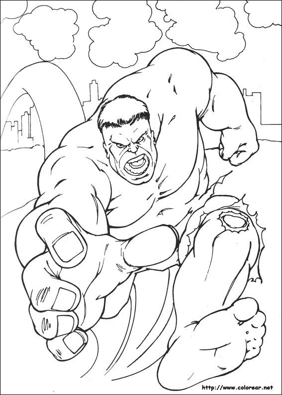 Dibujos De Hulk Para Colorear En Colorear Net