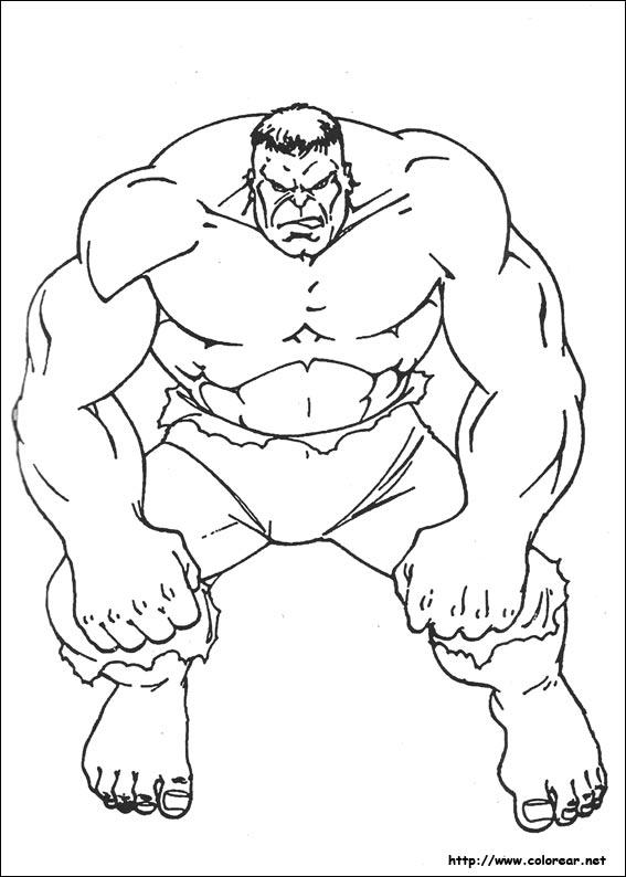 Dibujos de Hulk para colorear en Colorear.net