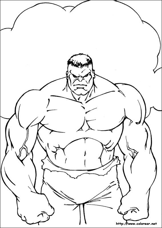 Dibujos Para Colorear De Hulk