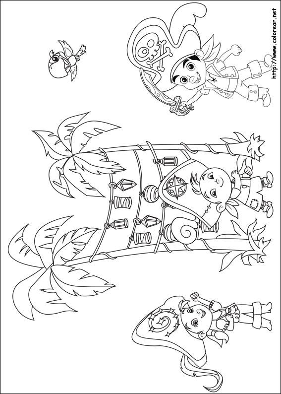 Dibujos De Jake Y Los Piratas Del Pa  S De Nunca Jam  S