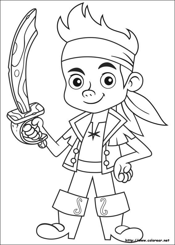 Dibujos De Jake Y Los Piratas Del País De Nunca Jamás Para Colorear