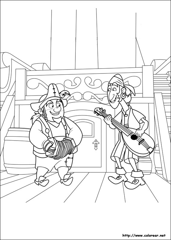 Jake And The Neverland Pirates Peter Pan Coloring Pages