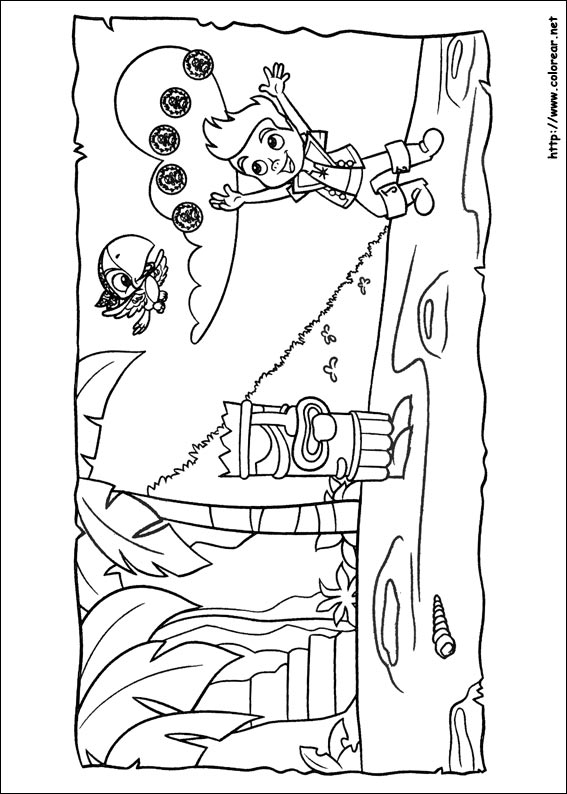 Jake And The Neverland Pirates Coloring Pages Pdf
