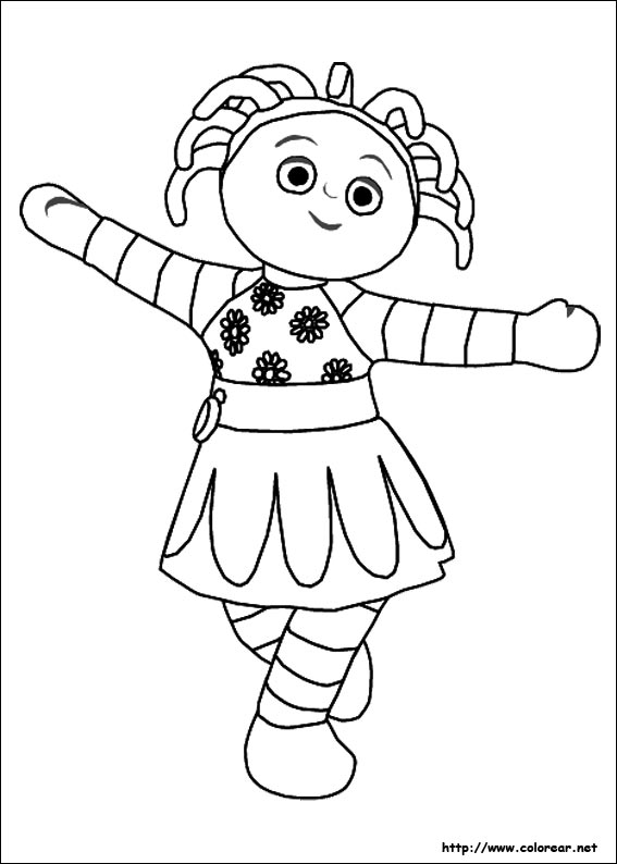 Dibujos Para Colorear De El Jard 237 N De Los Sue 241 Os Iggle Piggle Colouring Pages