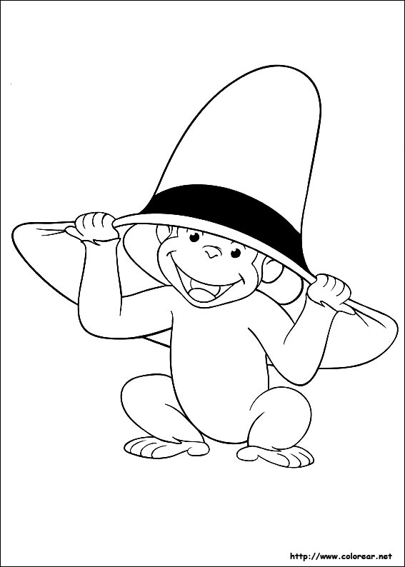 Dibujos para colorear de jorge el curioso for Curious george printable coloring pages