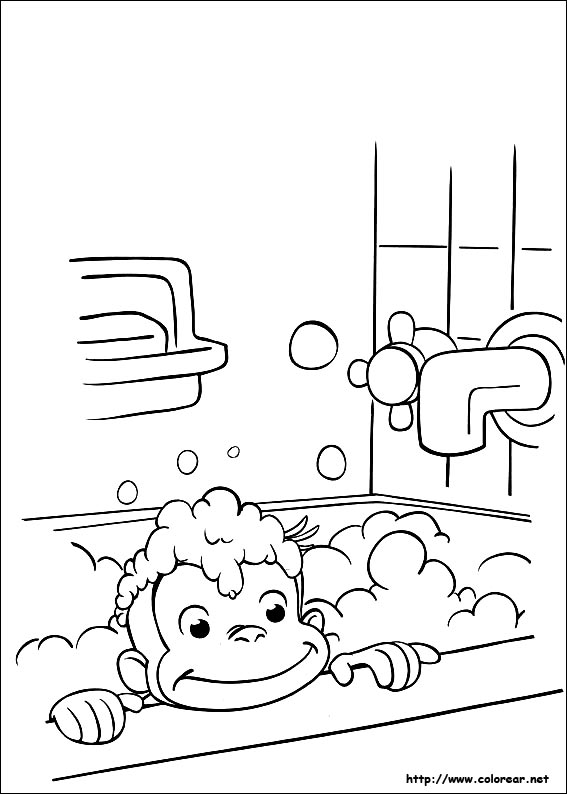 Curious George At School Coloring Pages - #traffic-club