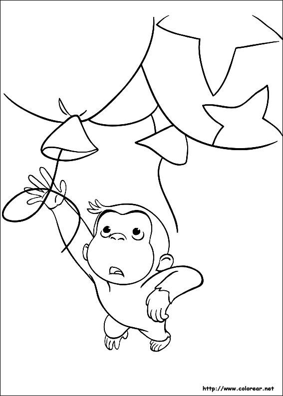 Dibujos para colorear de Jorge el curioso