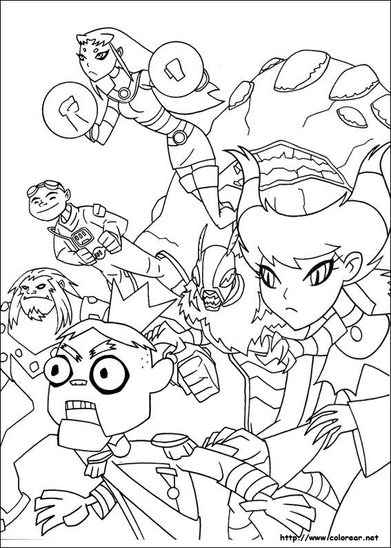 Dibujos para colorear: Los Jvenes Titanes imprimible
