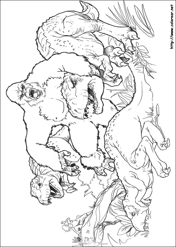 king kong coloring pages - dibujos para colorear de king kong
