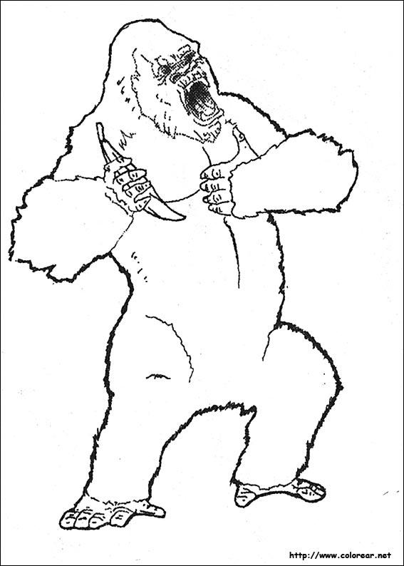 Perfecto King Kong Para Colorear Adorno - Ideas Para Colorear ...