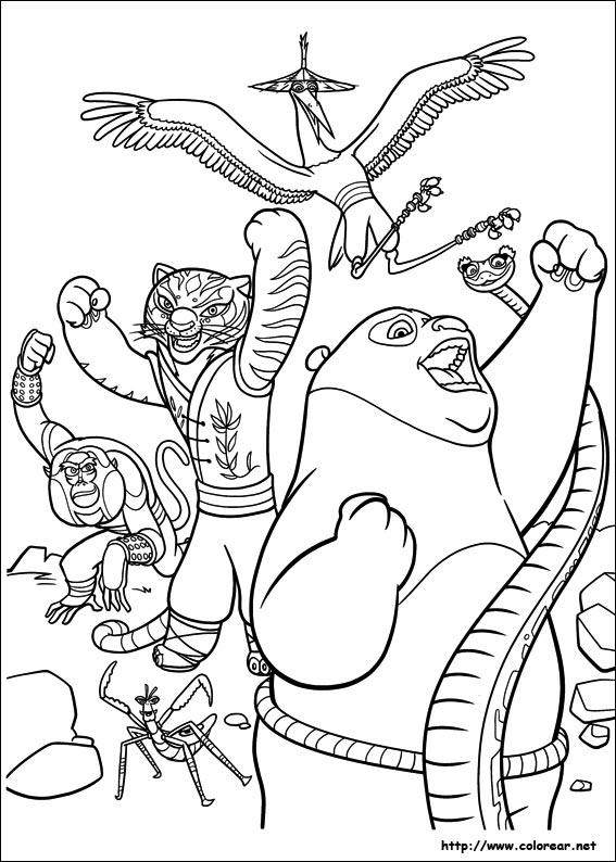Dibujos para colorear de Kung Fu Panda 2