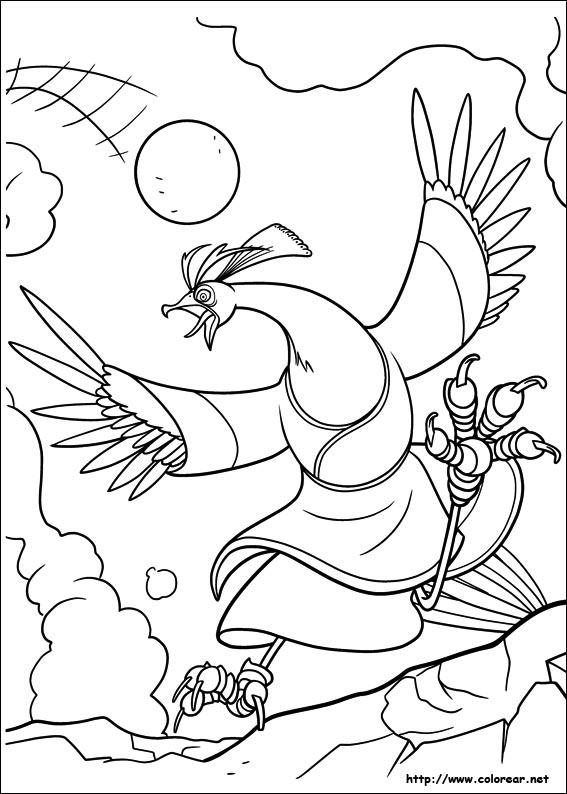 Dibujos de Kung Fu Panda 2 para colorear en Colorear.net