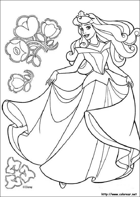 Dibujos para colorear de La Bella Durmiente