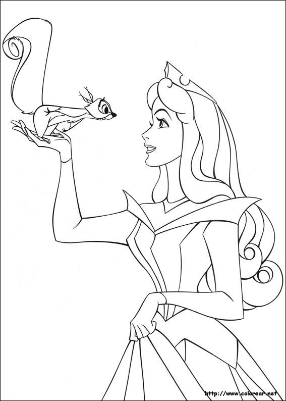 Dibujos de La Bella Durmiente para colorear en Colorear.net