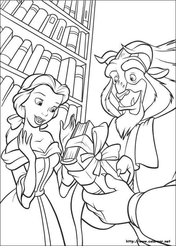 Dibujos de La Bella y la Bestia para colorear en Colorear.net