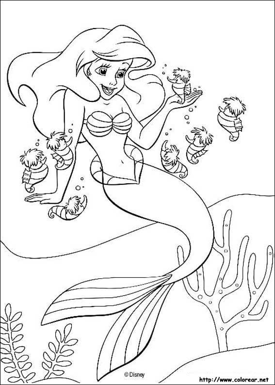 Dibujos de La Sirenita para colorear en Colorear.net