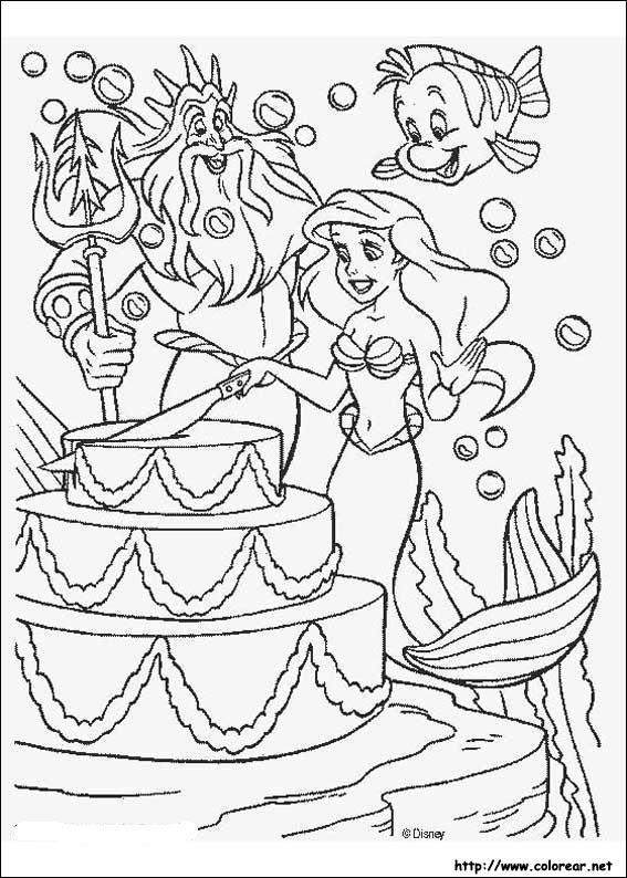 Dibujos para colorear de La Sirenita