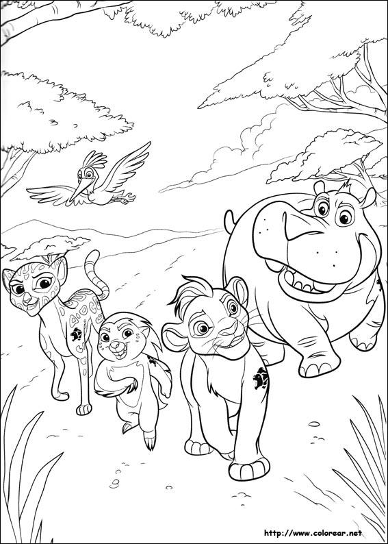 Dibujos para colorear de La Guardia del León