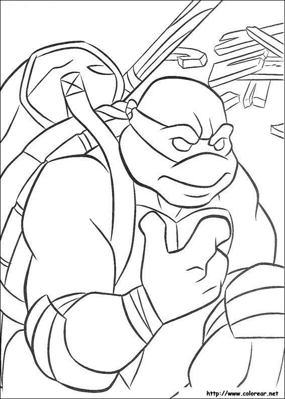 Dibujos de Las Tortugas Ninja Turtles para colorear en Colorear.net