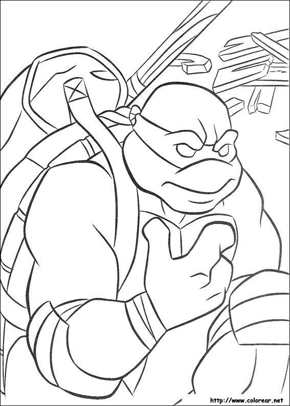 Dibujos para colorear de Las Tortugas Ninja Turtles