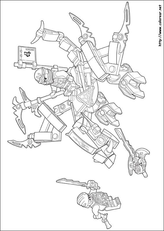 Dibujos de Lego Ninjago para colorear en Colorear.net