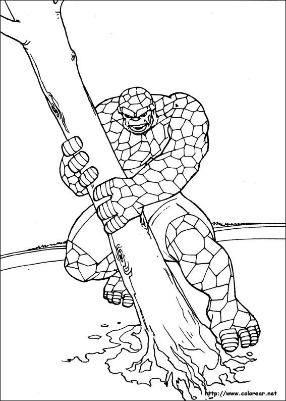 Dibujos para colorear de los 4 fant sticos for Fantastic four coloring pages