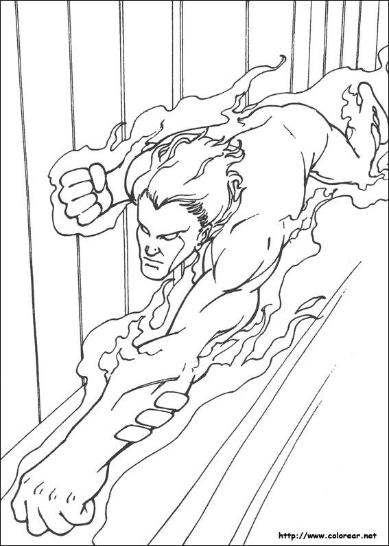 Dibujos para colorear de Los 4 Fantásticos