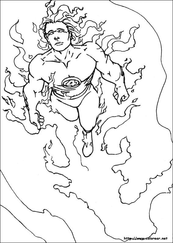 Dibujos de Los 4 Fantásticos para colorear en Colorear.net