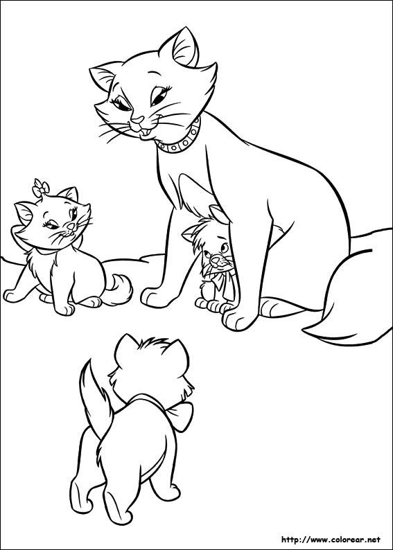 Dibujos de Los Aristogatos para colorear en Colorear.net