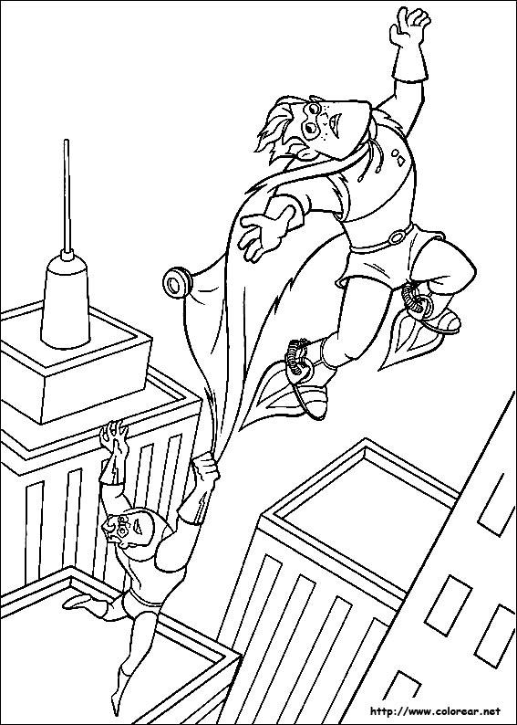 Dibujos de Los Increíbles para colorear en Colorear.net