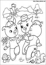 Dibujos de cerditos para colorear - dltk-ninos.com