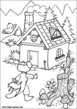 Dibujos de Los tres cochinitos para colorear en Colorearnet