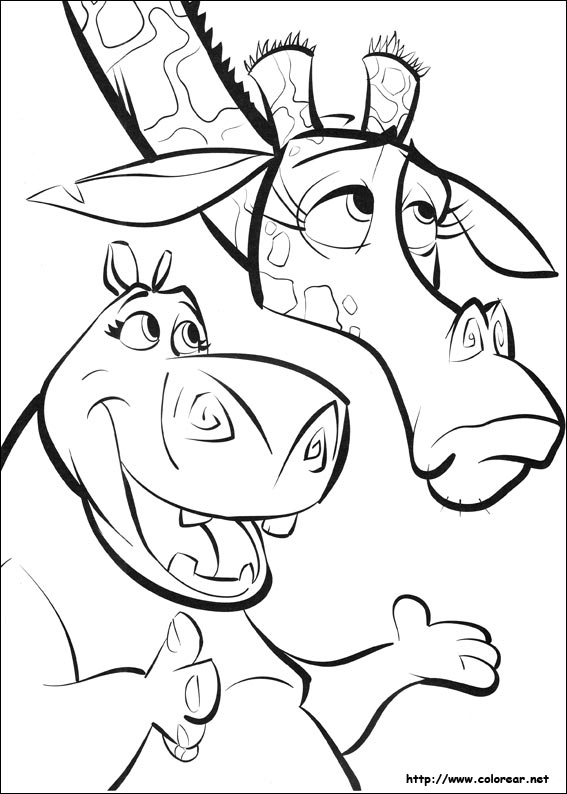 coloring pages of madagascar 2 - photo#18